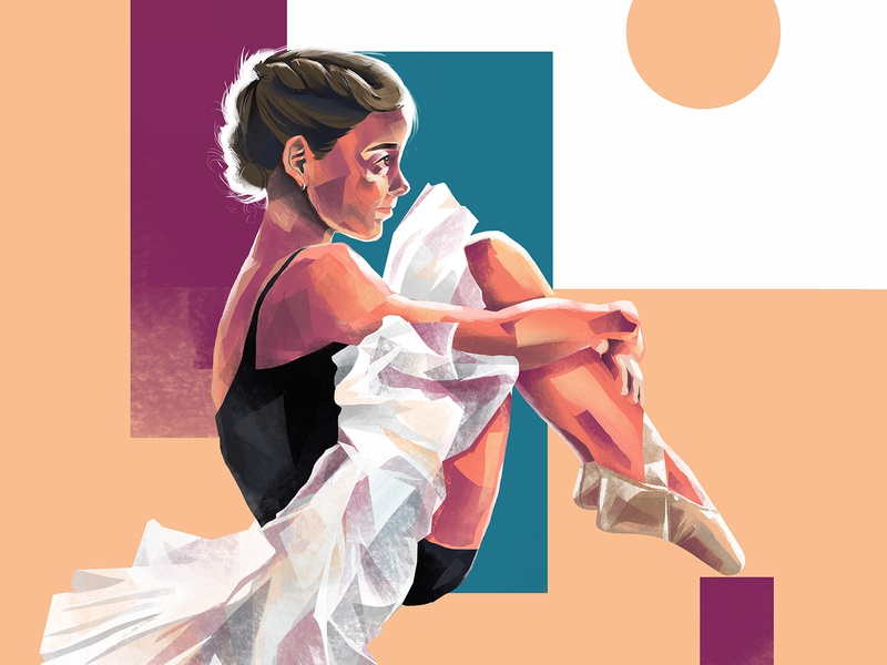 Girl 9 visual art composition dancer vector digitalpainting potrait digitalart art illustration