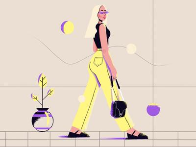 Trying something new model fasion design vector digitalart beauty illustration