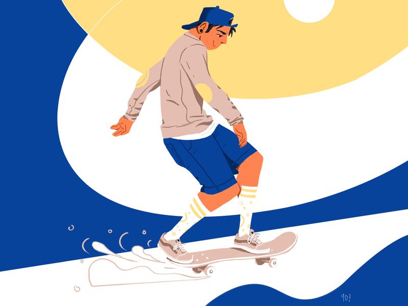 Let's Go Skate! character characterdesign skateboard skate design vector illustration