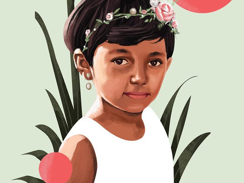 Girl 5 potrait digitalpainting pink digitalart art vector beauty illustration