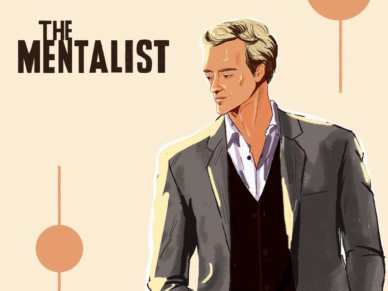 The Mentalist character digitalpainting art illustration fanart