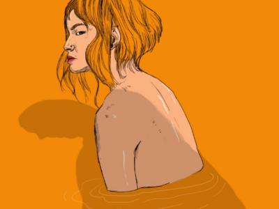 I hate you, don't leave me.. digital art love illustration