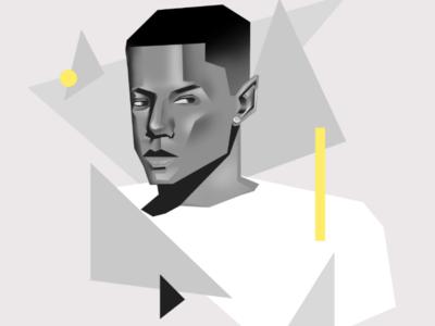 Digital portrait illustratio digital art portrait