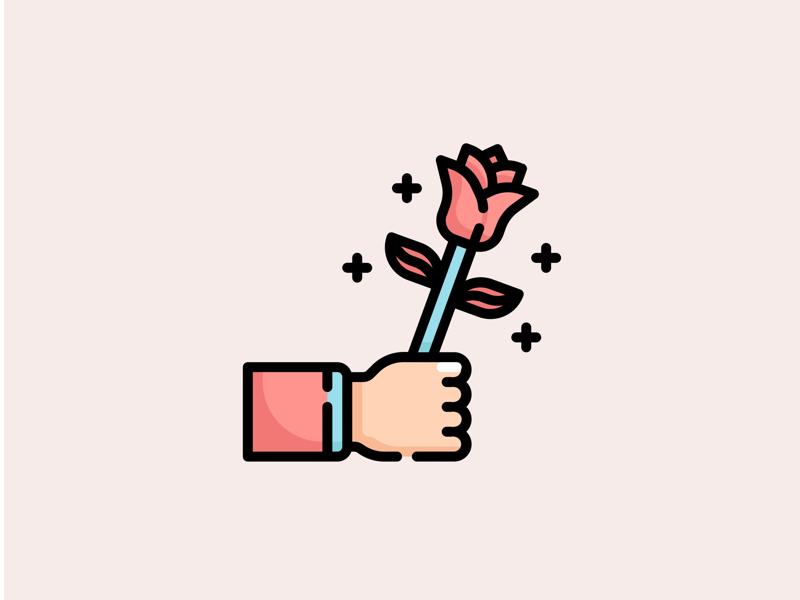 💌 Valentines day Icon Set ❤️ card artwork illustration vector logo simple icondesign flaticon 14feb flower rose cute icon romantic romance sweet love valentines valentine