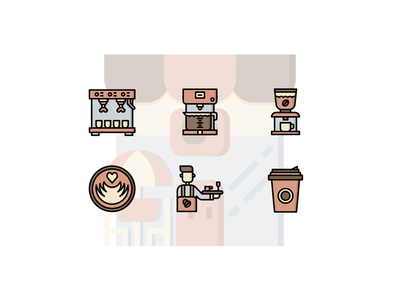 ☕️ Coffee shop Iconset ☕️