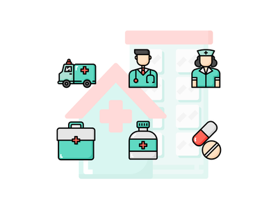 🏩 Medical equipment Icon set 💉 cute icon healthcare nurse doctor hospital drug medicine medical
