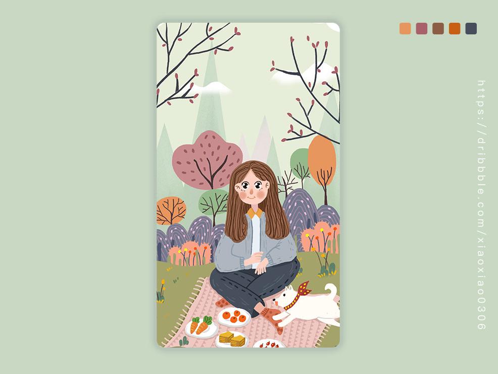 #野餐 插画练习