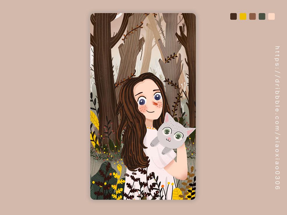 #森林冒险 插画练习