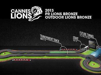 Voice Driver won 2 Bronze Lions bronze circuit illustration photoshop race car cannes lions award grass