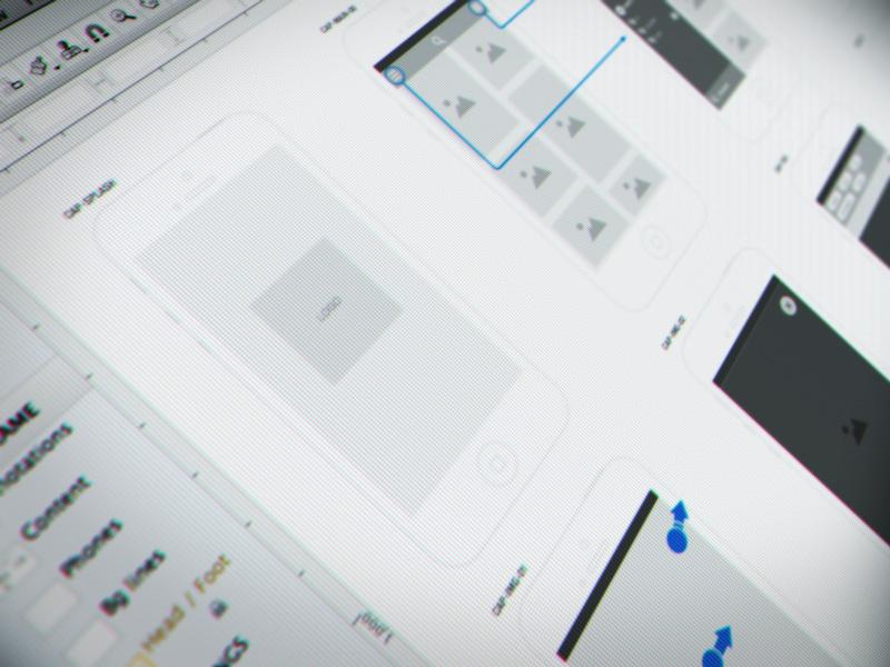 wireframes app wireframe