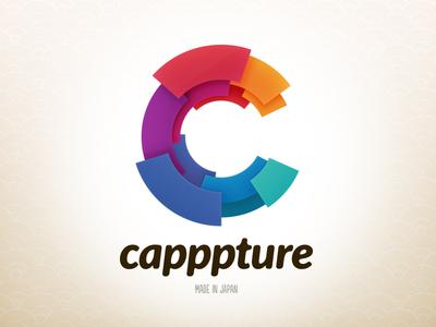 Capppture Logo logo color app japan screenshot japanese pattern