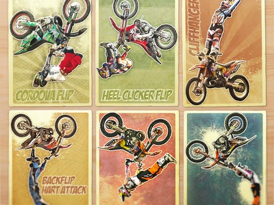 RB X-Fighters Card Collection red bull card bike collection illustration rider japan japanese