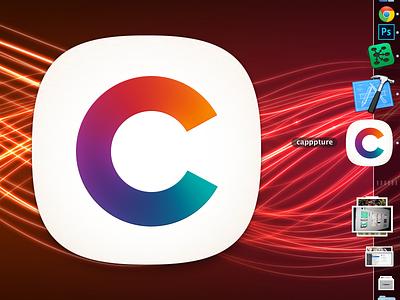 Capppture OSX Dock Icon ios osx mac apple app logo icon dock