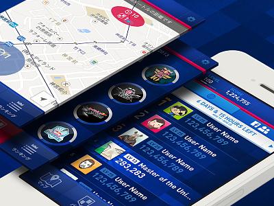 Red Bull AR Hunt red bull hunt app game ui leaderboard badge iphone map tab points list