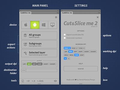 Cut&Slice Me 2 photoshop export plugin android iphone windows