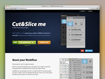 Cut&Slice me - Web plugin photoshop