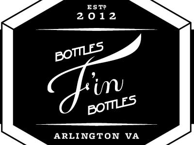 F'in Bottles wip beer label lettering