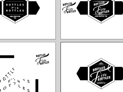Bottles F'in Bottles art boards and evolution beer label lettering