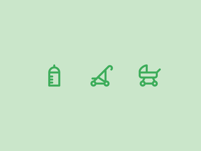 Outline icons Day 48 - Toddlers feeding bottle pushchair toddlers 24px vector illustrator icon outline