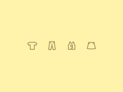 Outline icons Day 56 - The clothes dress skirt trousers t-shirt 24px vector illustrator icon outline