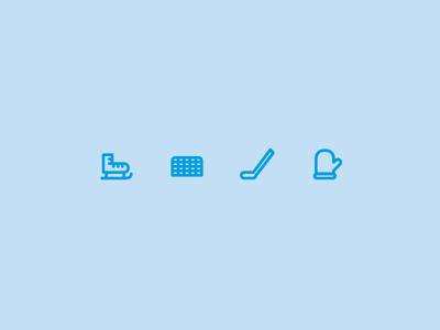 Outline icons Day 57 - Icehockey glove hockey stick gate skates icehockey 24px vector illustrator icon outline