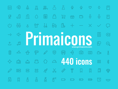 Primaicons - Awesome icons webfont full buy outline illustrator icon demo download free font vector icons