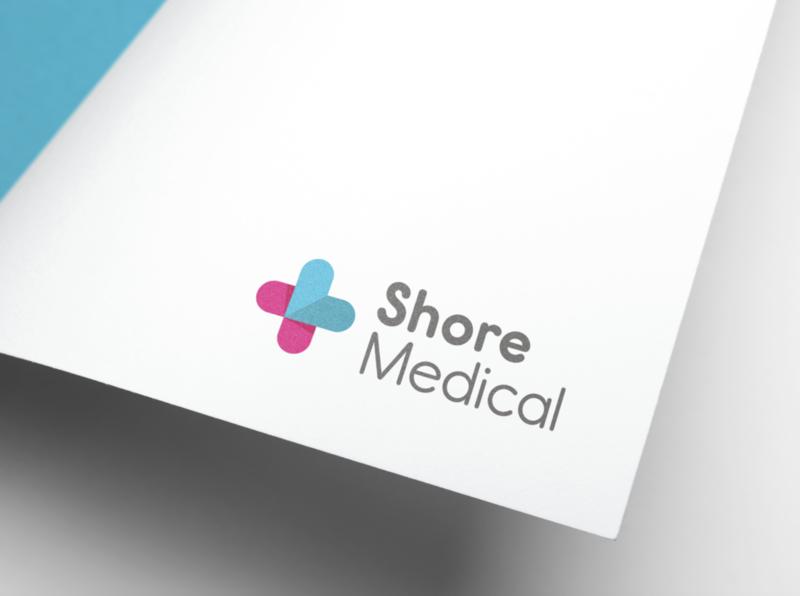 Shore Medical Group medical design medical healthcare web design web brand and identity identity design identity branding brand logo design identity logo design branding