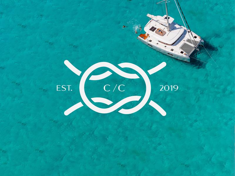 Catamaran Charters identity logo design brand identity design creative agency identity branding brand and identity logo design branding