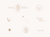 Lyra Co jewelry Branding Elements