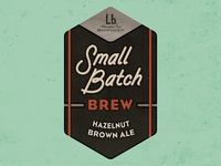 Small Batch Hazelnut Brown Ale Logo