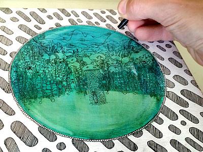 Explorer II trees knapsack pen circle
