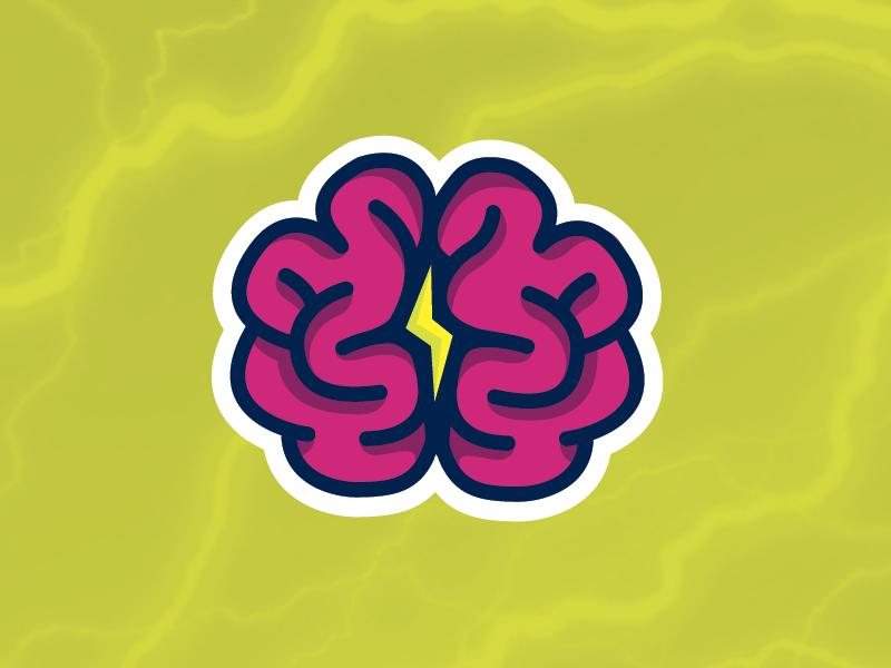 Brain Power Sticker sticker mule stickers rebound marketplace playoff