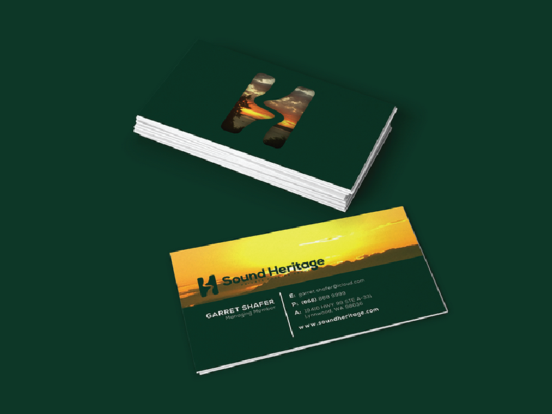 Sound Heritage - Business card sound heritage business card puget sound river s h branding
