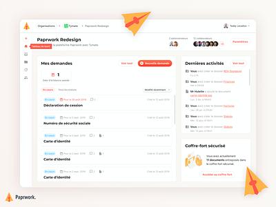 Paprwork - Dashboard files platform design organisation lawyer dashboard site
