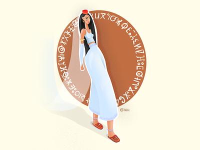 Berbère inspiration, Amazigh touch arabic culture girls moroccan amazigh design ui illustration