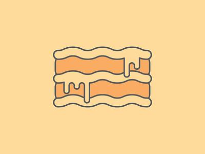 Ooey, Gooey Lasagna Icon lasagna icon vector cheese food melty yum