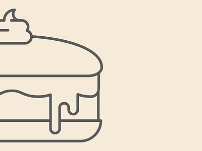 WIP Dessert Icon dessert icon food vector