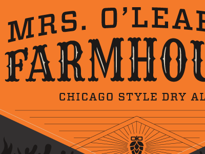 Mrs. O'Leary's Farmhouse Label brewery packaging label beer