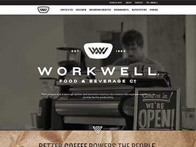Workwell Website identity office beverage food workwell design website