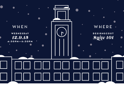 Holiday Party Invite party christmas winter illustration icon design invite invitation holiday