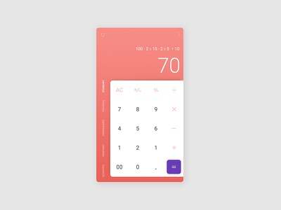 Daily UI #004 - Calculator mobile app gradient 004 calculator ux ui daily ui