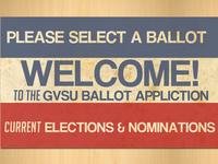 GVSU Ballot App Header