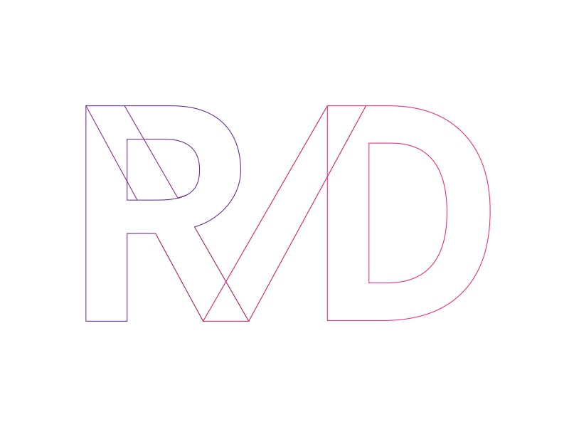 Personal Logo Concept: Round 4 brand play letters letter purple pink magenta concept typography type personal logo