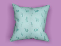Crystal Point Pattern Pillow (Emerald)