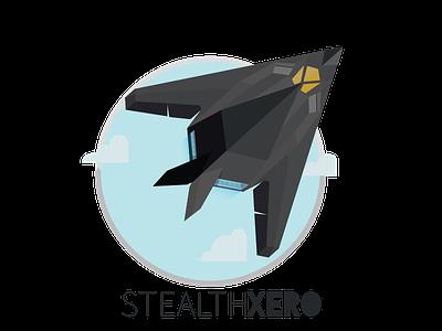 Logo Design youtube video games f117 nighthawk plane stealth zero xero clouds sky