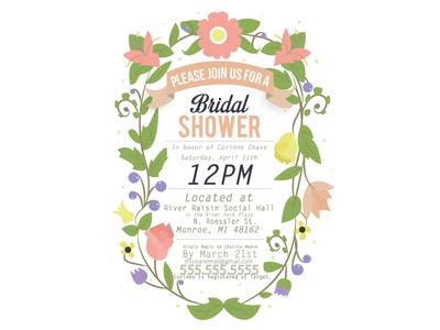 Bridal Shower bridal shower wedding sister corinne floral fauna plants berries