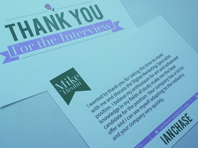 Thank You thanks thank you interview card letter contact rose flower