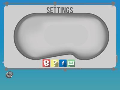 Settings Menu bowl pool ramp stairs skateboard wheels ball bearing mod skate game app