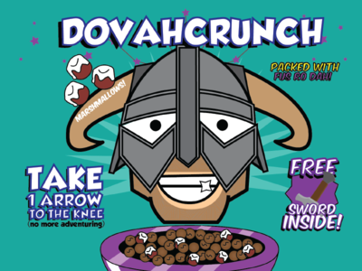 DovahCrunch box cereal skyrim