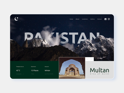 Pakistan Tourasim Website Concept ( By GOL Studios )